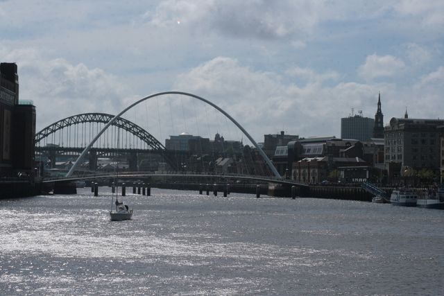 De millenium bridge in Newcastle
